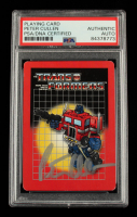 Peter Cullen Signed 2002 Hasbro Transformers Playing Card (PSA Encapsulated) at PristineAuction.com