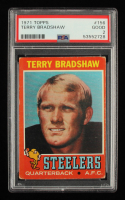 Terry Bradshaw 1971 Topps #156 RC (PSA 2) at PristineAuction.com