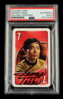 George Takei Signed 1999 UNO Star Trek Playing Card (PSA Encapsulated) at PristineAuction.com