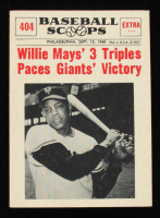 Willie Mays 1961 Nu-Card Scoops #404 Three Triples at PristineAuction.com
