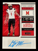 D.J. Moore 2018 Panini Contenders Draft Picks Draft Ticket Red Foil #185A AU at PristineAuction.com