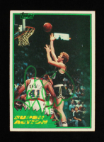 Larry Bird Signed 1981 Topps Super Action #101 (Beckett Hologram) at PristineAuction.com