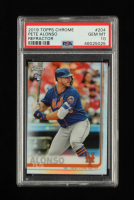 Pete Alonso 2019 Topps Chrome Refractors #204 (PSA 10) at PristineAuction.com