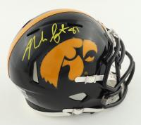 Noah Fant Signed Iowa Hawkeyes Speed Mini Helmet (Beckett Hologram) at PristineAuction.com
