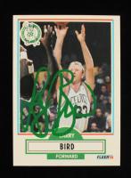 Larry Bird Signed 1990-91 Fleer #8 (Beckett Hologram) at PristineAuction.com