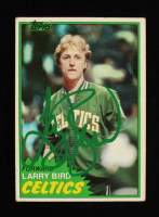 Larry Bird Signed 1981-82 Topps #4 (Beckett Hologram) at PristineAuction.com