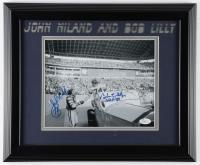 "Bob Lilly & John Niland Signed 13x17 Custom Framed Photo Display Inscribed ""HOF '80"" (JSA COA) (See Description) at PristineAuction.com"