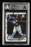 Julio Rodriguez Signed 2019 Bowman Chrome Prospects #BCP33 (BGS Encapsulated) at PristineAuction.com
