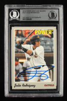 Julio Rodriguez Signed 2019 Topps Heritage Minors #121 (BGS Encapsulated) at PristineAuction.com