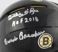 "Willie O'Ree Signed Bruins Mini Helmet Inscribed ""HOF 2018"" & ""Barrier Breaker"" (JSA COA) at PristineAuction.com"