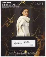"""Natalie Portman Signed """"Star Wars: Episode III Revengoe of the Sith"""" 2x4.5 Cut Display (ACOA Hologram) at PristineAuction.com"""