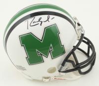 Randy Moss Signed Marshall Thundering Herd Mini Helmet (JSA COA) at PristineAuction.com