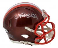 Nick Chubb Signed Browns Flash Alternate Speed Mini Helmet (JSA COA) at PristineAuction.com