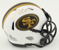 Fred Warner Signed 49ers Lunar Eclipse Alternate Speed Mini Helmet (Beckett COA) at PristineAuction.com