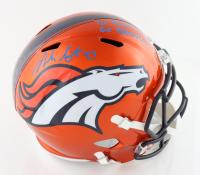 "Noah Fant Signed Broncos Full-Size Flash Alternate Speed Helmet Inscribed ""1st Round Pick"" & ""Go Broncos!"" (Beckett Hologram) at PristineAuction.com"