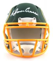 Ahman Green Signed Packers AMP Alternate Speed Mini Helmet (JSA COA) at PristineAuction.com