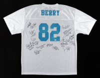 Hall Of Fame Raymond Berry Practice Jersey Signed by (18) with Jim Taylor, Thurman Thomas, Tim Brown, Curly Culp (Stacks of Plaques LOA) (See Description) at PristineAuction.com