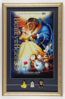 """Disney's """"Beauty and the Beast"""" 15x23 Custom Framed Print Display with Set of (3) Movie Pins at PristineAuction.com"""