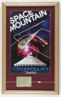 Disneyland Space Mountain Tomorrowland 15x24 Custom Framed Display with Vintage E Space Mountain Ticket & FedEx Sponsor Ride Pin at PristineAuction.com