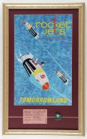 Tomorrowland Rocket Jets 15x24 Custom Framed Display with Vintage B Rocket Jets Ticket & Vintage Pin at PristineAuction.com