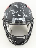 Nebraska Cornhuskers Full-Size AMP Alternate Speed Helmet Team-Signed by (7) with Tommie Frazier, Jason Peter, Grant Wistrom (JSA COA) at PristineAuction.com