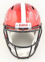 Nebraska Cornhuskers Full-Size Flash Alternate Speed Helmet Team-Signed by (7) with Tommie Frazier, Jason Peter, Grant Wistrom (JSA COA) at PristineAuction.com
