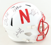 Nebraska Cornhuskers Full-Size Speed Helmet Team-Signed by (7) with Tommie Frazier, Jason Peter, Grant Wistrom (JSA COA) at PristineAuction.com