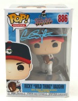 """Charlie Sheen Signed """"Major League"""" #886 Ricky """"Wild Thing"""" Vaughn Funko Pop! Vinyl Figure (MAB Hologram) at PristineAuction.com"""
