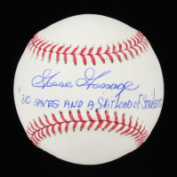 """Goose Gossage Signed OML Baseball Inscribed """"310 Saves & A Sh**load of Strikeouts"""" (JSA COA) at PristineAuction.com"""
