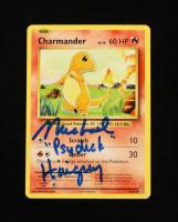 "Michael Haigney Signed Charmander 2016 Pokemon Evolutions #9 Inscribed ""Psyduck"" (JSA COA) at PristineAuction.com"