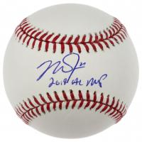 "Mike Trout Signed OML Baseball Inscribed ""2019 AL MVP"" (MLB Hologram) at PristineAuction.com"