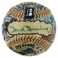 Hank Greenberg Signed Tigers Baseball Hand-Painted by Charles Fazzino (JSA LOA) at PristineAuction.com