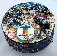 Charles Fazzino Hand-Painted 2010 USA Puck at PristineAuction.com