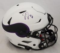 Justin Jefferson Signed Vikings Full-Size Authentic On-Field Lunar Eclipse Alternate SpeedFlex Helmet (Beckett Hologram) at PristineAuction.com