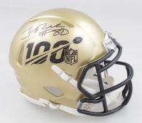Jerry Rice Signed NFL 100th Season Logo Speed Mini Helmet (Beckett COA) at PristineAuction.com