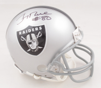 Jerry Rice Signed Raiders Mini Helmet (Beckett COA) at PristineAuction.com