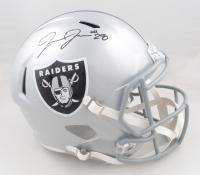 Josh Jacobs Signed Raiders Full-Size Speed Helmet (Beckett Hologram & Jacobs Hologram) at PristineAuction.com