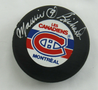 Maurice Richard Signed Canadiens Logo Hockey Puck (JSA Hologram) at PristineAuction.com