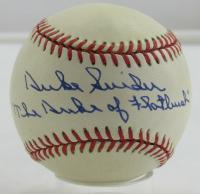 """Duke Snider Signed ONL Baseball Inscribed """"The Duke of Flatbush"""" (JSA Hologram) at PristineAuction.com"""