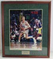 Larry Bird Signed Celtics 16x20 Custom Framed Photo Display (UDA Hologram) at PristineAuction.com
