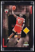 Michael Jordan 2001 Upper Deck LE Game Championship Floor Basketball Card (UDA COA) at PristineAuction.com