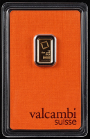 1 Gram Valcambi Suisse Gold Bullion Bar with Original Packaging at PristineAuction.com