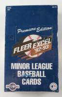 1992-93 Fleer Excel Minor League Premiere Edition Baseball  Box of (36) Packs at PristineAuction.com