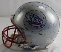 Tom Brady, Antoine Smith & David Patten Signed Super Bowl XXXVI Logo Full-Size Authentic On-Field Helmet (JSA LOA) at PristineAuction.com