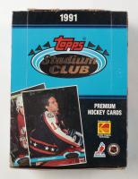 1991-  92 Topps Stadium Club Hockey Hobby Box with (36) Packs at PristineAuction.com