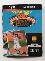 1991 Topps Stadium Club Baseball 2nd Series Box of (28) Wax Packs at PristineAuction.com