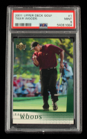 Tiger Woods 2001 Upper Deck #1 RC (PSA 9) at PristineAuction.com