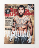 """Manny Pacquiao Signed 2015 """"Sports Illustrated"""" Magazine Inscribed """"Pacman"""" (Pacquiao COA) at PristineAuction.com"""