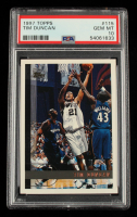Tim Duncan 1997-98 Topps #115 RC (PSA 10) at PristineAuction.com