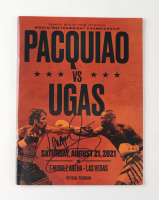 Manny Pacquiao Signed 2021 Welterweight Championship Official Program (Pacquiao COA) at PristineAuction.com